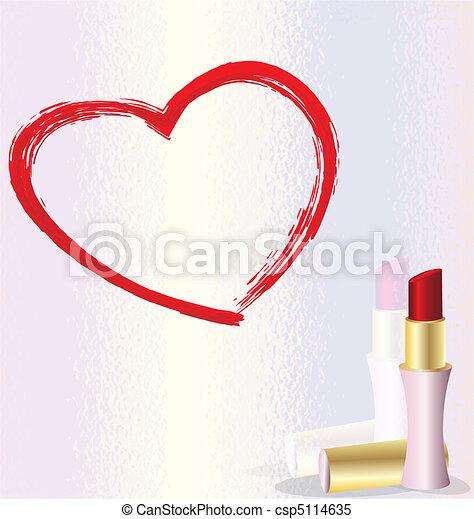 lipstick heart - csp5114635