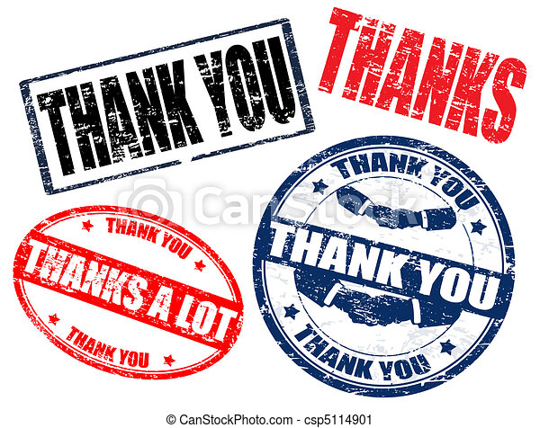 Thank you stamps - csp5114901