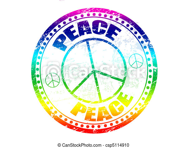 Peace stamp - csp5114910