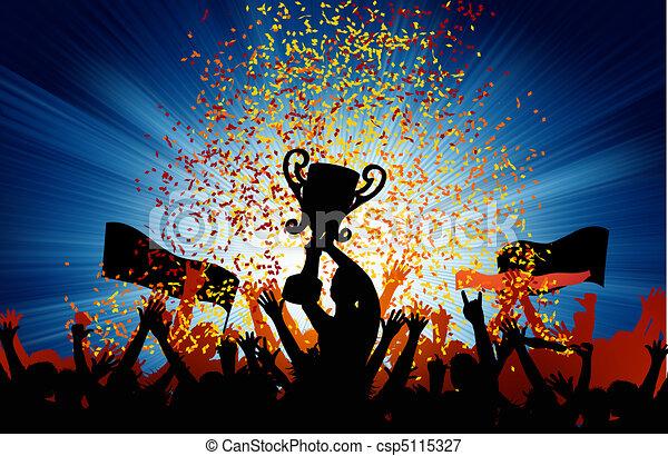 Cheering Crowd. EPS 8 - csp5115327