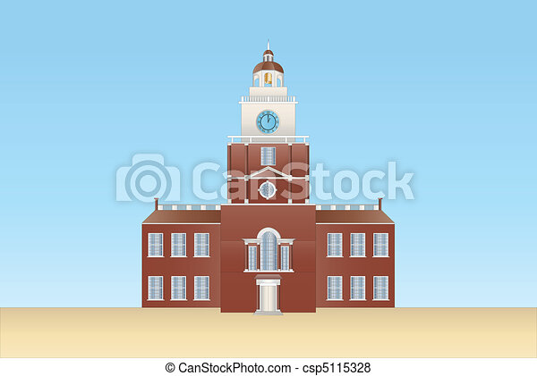 independence hall in Philadelphia - csp5115328