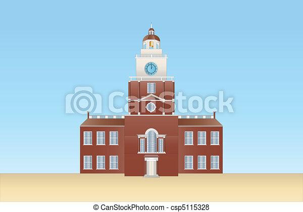 independence hall in Philadelphia - csp5115328