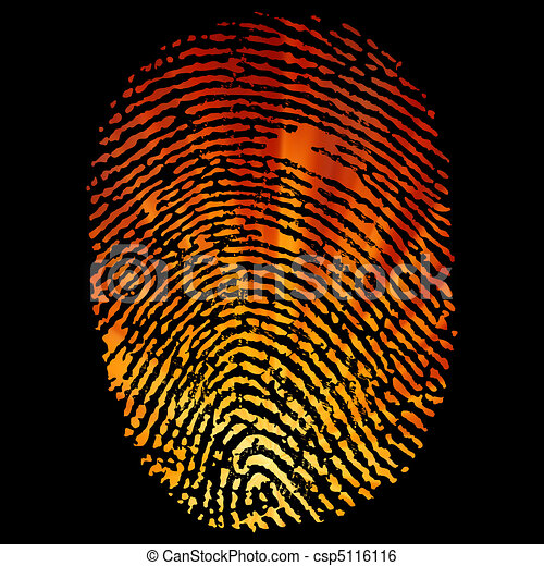 Glowing Finger Print. EPS 8 - csp5116116
