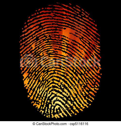 Glowing Finger Print. EPS 8 - csp5116116