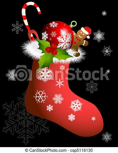 Christmas sock - csp5116130