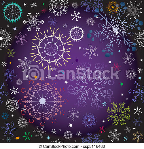 Black and violet effortless christmas pattern - csp5116480