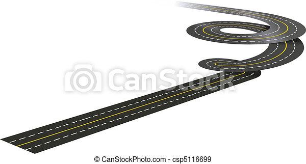 Spiral road concept  - csp5116699