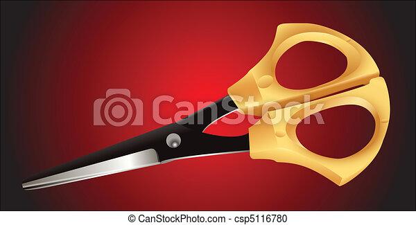 Arriba, costura,  -, tijeras, cierre, elegante - csp5116780