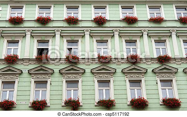 Facade of the green building - csp5117192