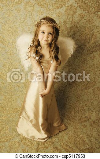Beautiful angel girl - csp5117953
