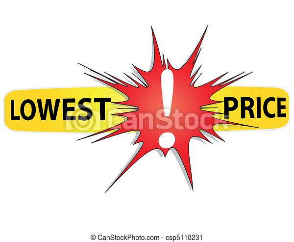 Lowest Price Icon Red And Yellow Icon Lowest