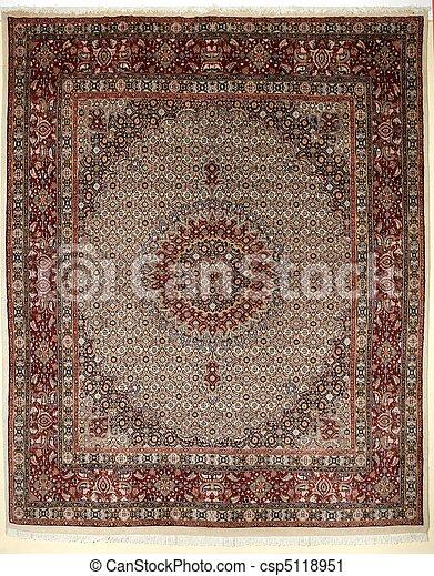 Arabic carpet colorful persian islamic handcraft - csp5118951