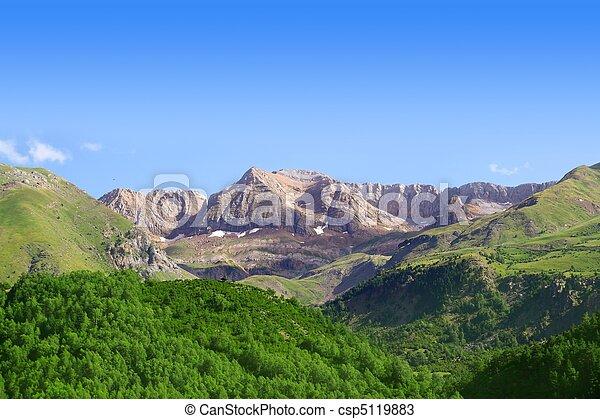 Pyrenees peaks Panticosa scenics Huesca Aragon - csp5119883