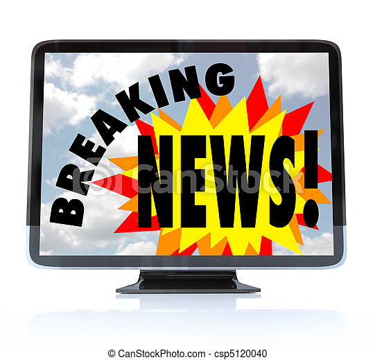 Breaking News - High Definition Television HDTV - csp5120040