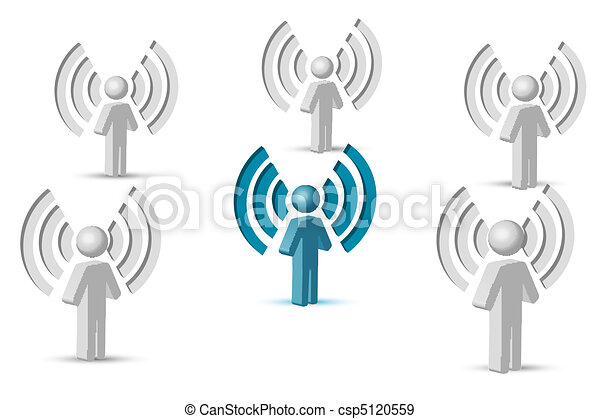 wifi symbol with people - csp5120559