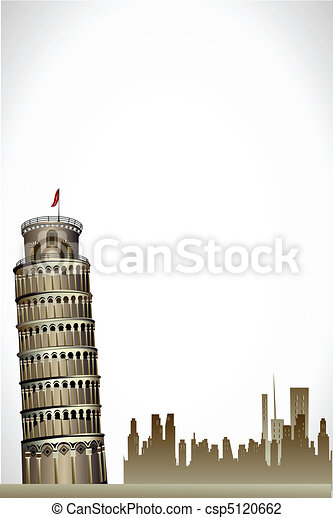 leaning tower of pisa - csp5120662
