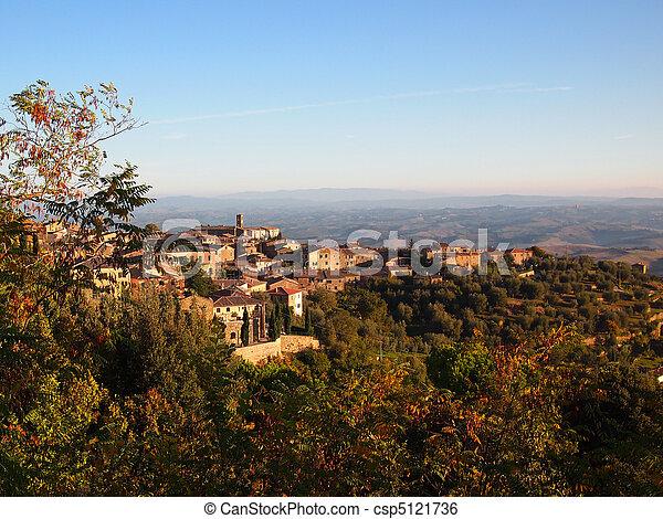 Italian hilltop town - csp5121736