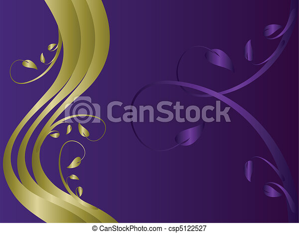 A formal floral background  - csp5122527