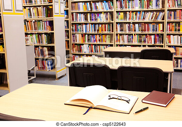 Workplace in library - csp5122643