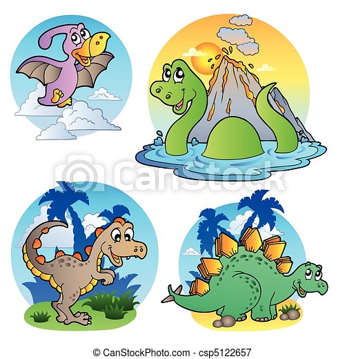 Various dinosaur images 1 - csp5122657