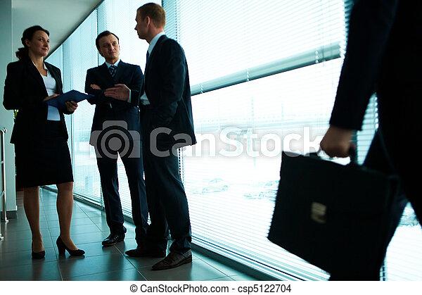 オフィス, コミュニケートする - csp5122704