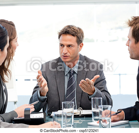 Charismatic manager talking - csp5123241