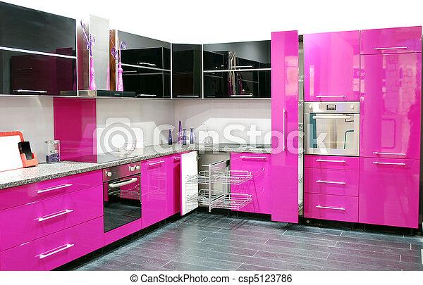 stock bild von rosa kueche csp5123786 suchen sie stock. Black Bedroom Furniture Sets. Home Design Ideas