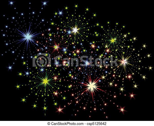 Firework streaks - csp5125642
