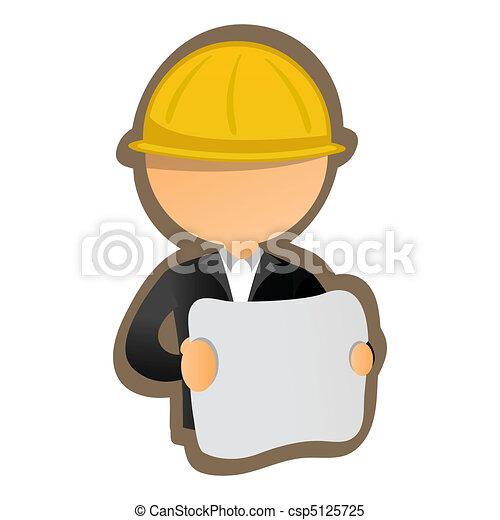 illustration of architect - csp5125725
