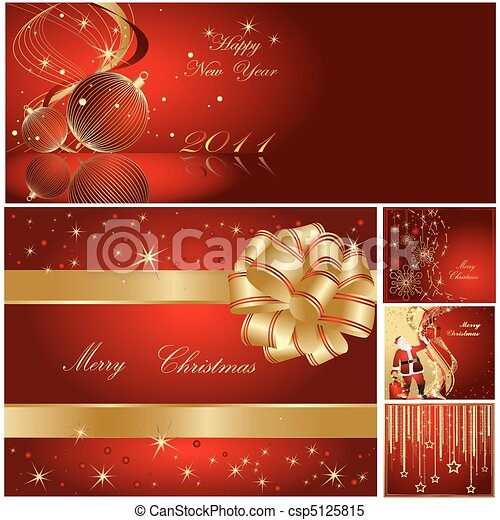 Merry Christmas and Happy New Year  - csp5125815