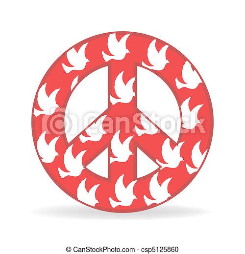 sign of peace with bird - csp5125860