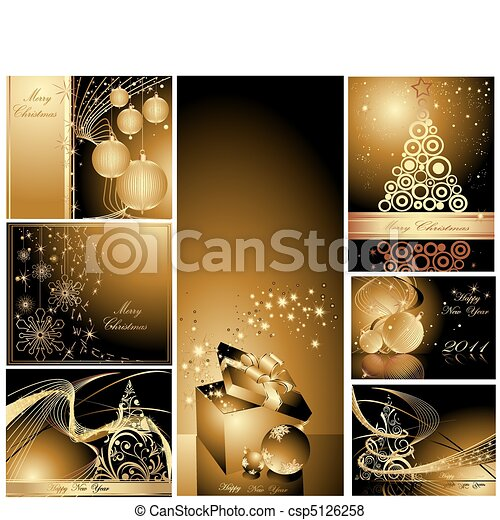 Merry Christmas and Happy New Year  - csp5126258