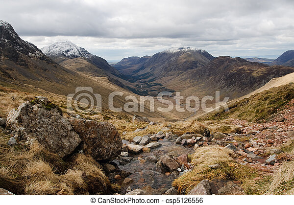Lake district Landscape Assent of Great Gable - csp5126556