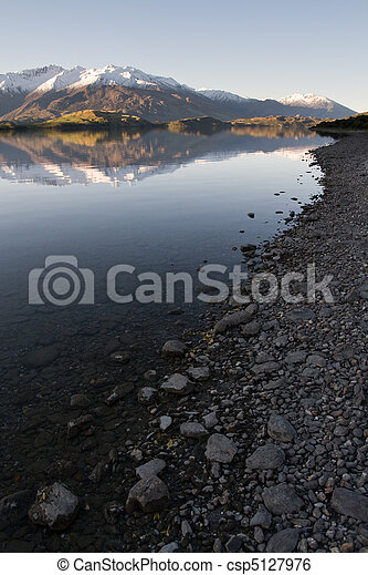 Wanaka Lakeshore Reflection - csp5127976