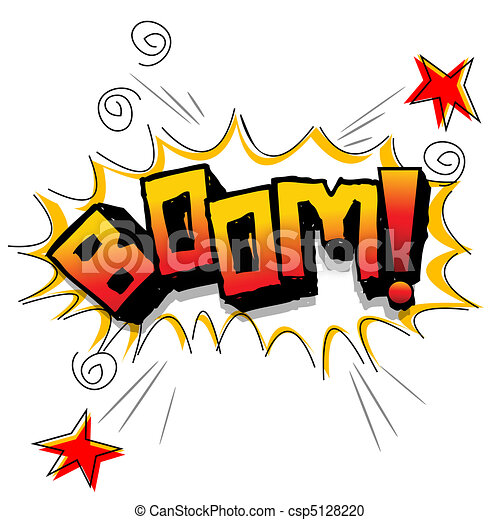 Clipart vecteur de boom toiles illustration de boom - Boom dessin anime ...