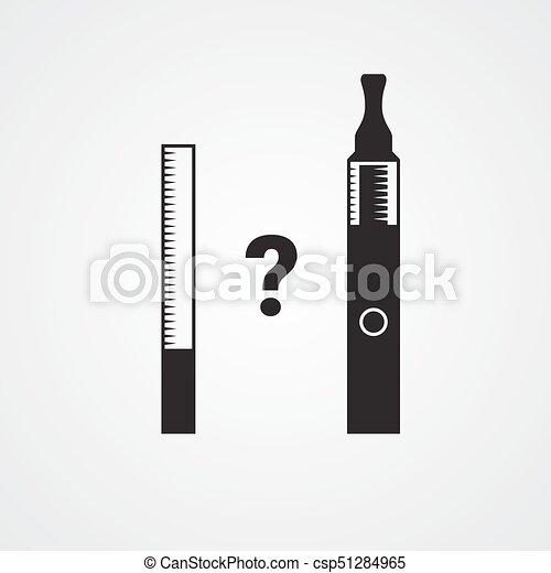タバコ, 葉巻き, タバコ, ∥対∥, vaping., 装置, 喫煙, 電子 ...
