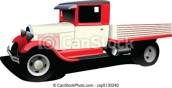 Old fashioned rarity truck. Vector - csp5130240