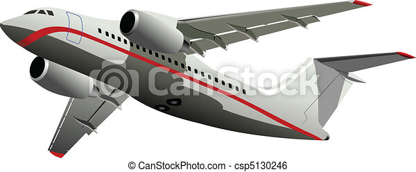 Passenger Airplanes.  Colored Vect - csp5130246