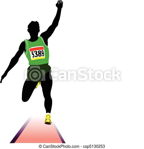 Vectors of Athletics. The long jumping. Sport - Athletics. The ...