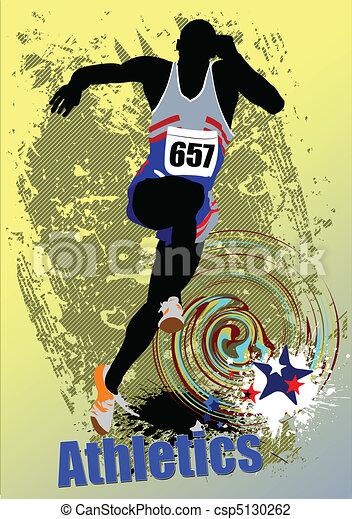 Poster Athletics. The running peop - csp5130262