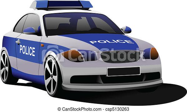 Police car. Municipal transport. C - csp5130263