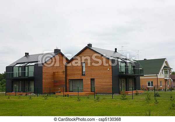 modern cottages - csp5130368