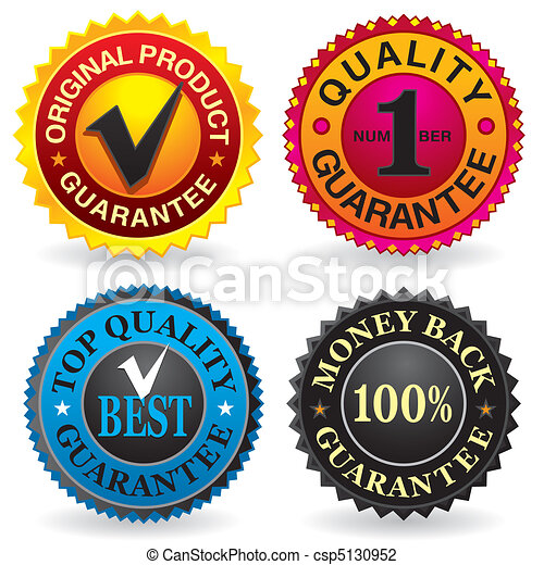 Quality, Guarantee Labels - csp5130952