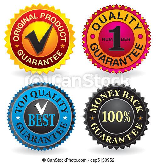 Quality, Guarantee Labels - csp5130952