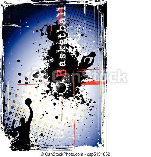 dirty basketball poster - csp5131652