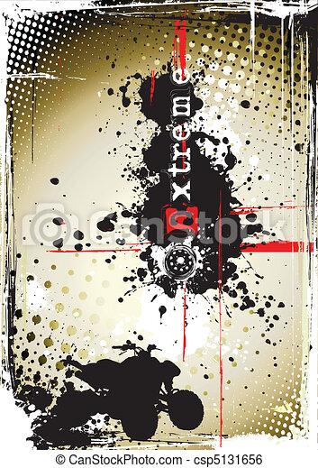 dirty moto poster - csp5131656