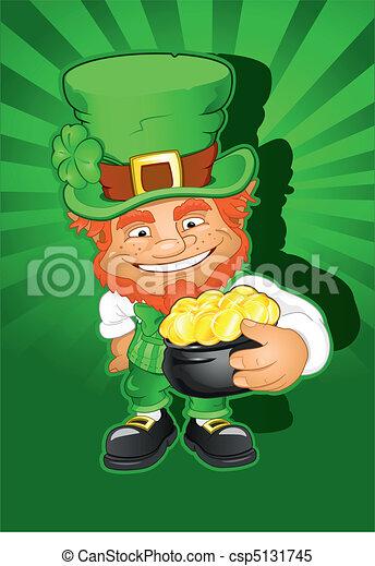 St. Patricks Day Leprechaun - csp5131745
