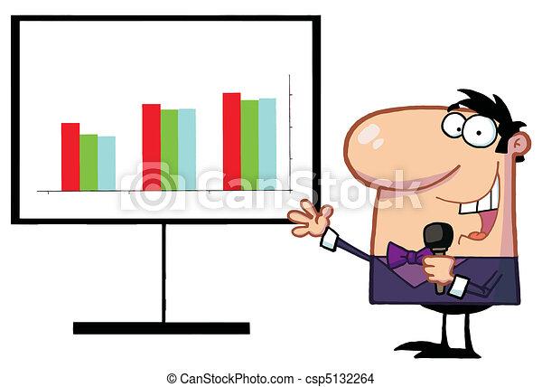 Friendly Talk Show Host Man - csp5132264