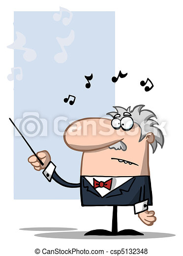 Conductor Holds Baton  - csp5132348