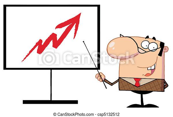Business Manager Cartoon Character - csp5132512
